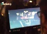 pantalla set rodaje cine