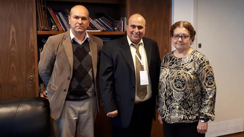 Edith Moraes, Nicolás Ponds y González Pérez