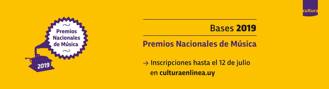 Convocatoria Premios Nacionales de Música 2019 hasta el 12 de julio