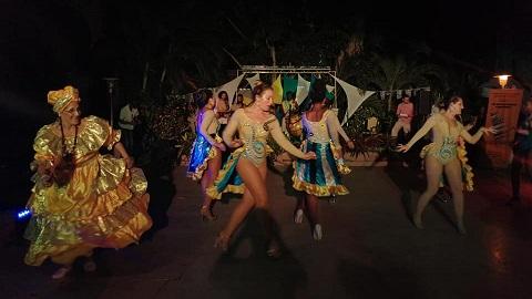 comparsa de candombe en cuba