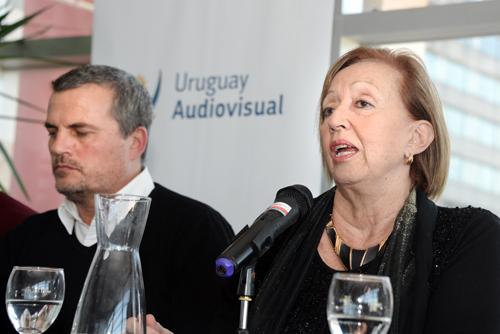 Muñoz en presentación Uruguay Audiovisual